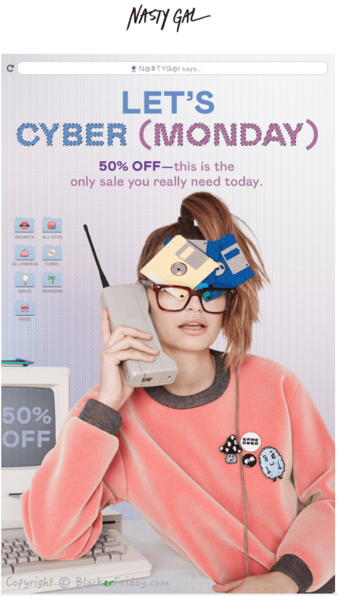 Nasty Gal Cyber Monday Ad Scan - Page 1