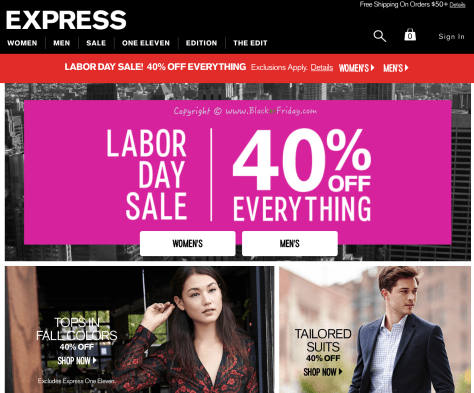 Express Labor Day 2016 Sale - Page 1