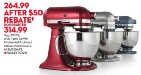 KitchenAid Artisan Mixer Black Friday - Macys