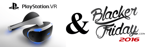 Sony Playstation VR Black Friday 2016