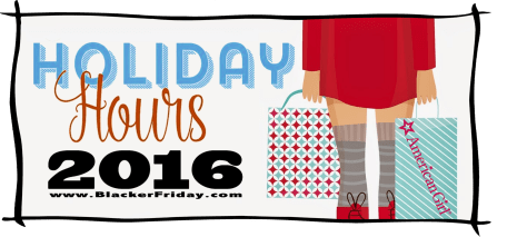 American Girl Black Friday Opening Hours 2016