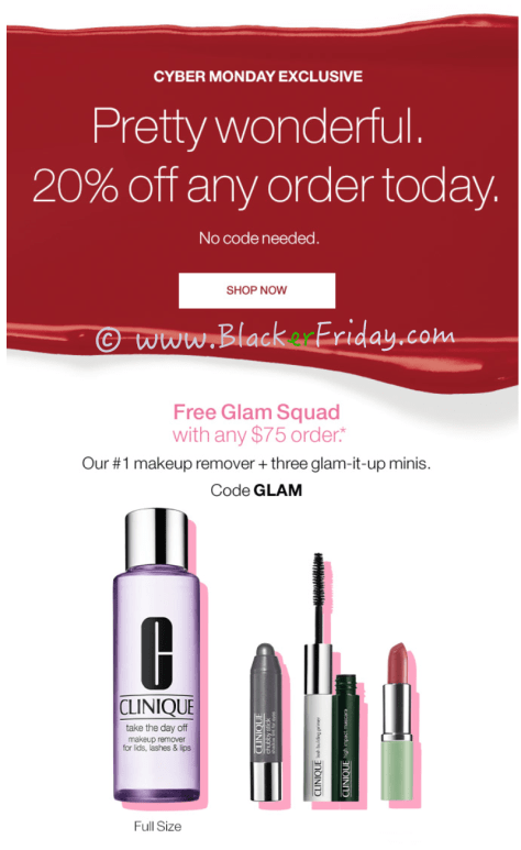 Clinique Cyber Monday Sale Ad Scan - Page 1