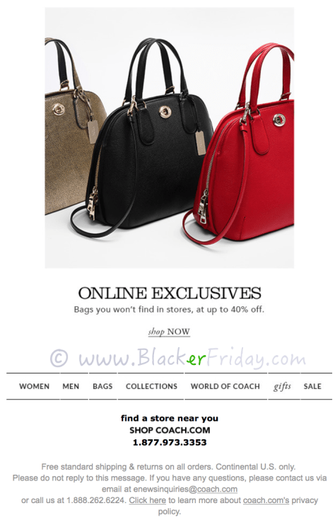 Coach Cyber Monday Sale Ad Scan - Page 2
