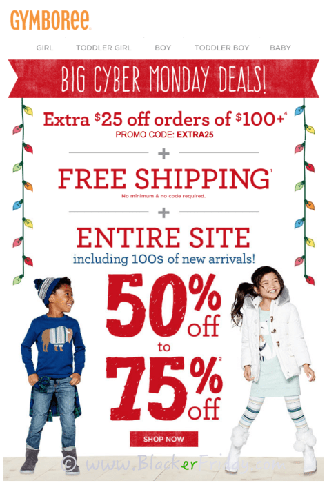 Gymboree Cyber Monday Sale Ad Scan - Page 1