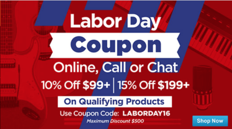Musicans Friend Labor Day 2016 Sale - Page 2