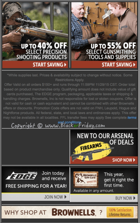 Brownells Black Friday Sale Ad Flyer - Page 2