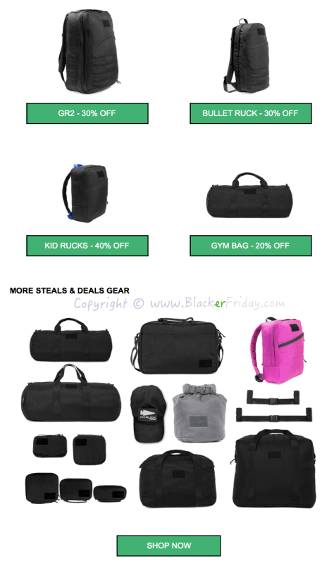 GoRuck Black Friday Sale Ad Flyer - Page 2