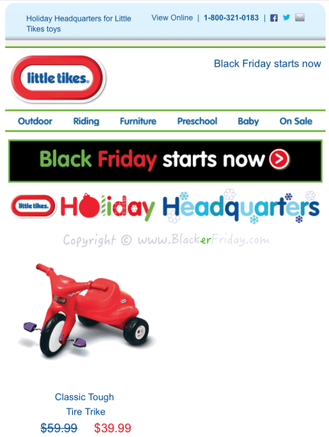 Little Tikes Black Friday Sale Flyer - Page 1