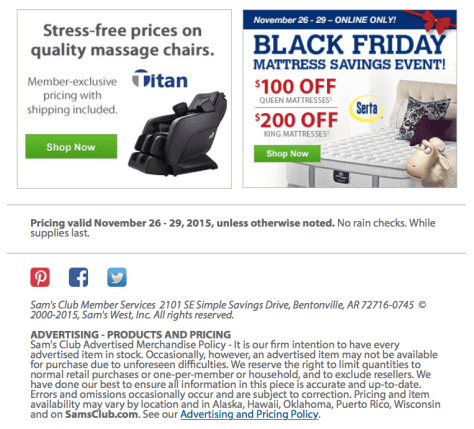 Sams Club Black Friday Sale Flyer - Page 2