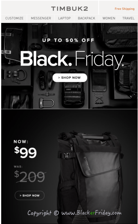 Timbuk2 Black Friday Sale Ad Flyer - Page 1