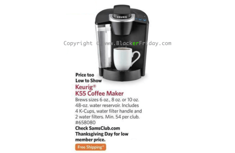 keurig-k55-coffee-maker-sams-club-black-friday-2016-ad-scan-page-1
