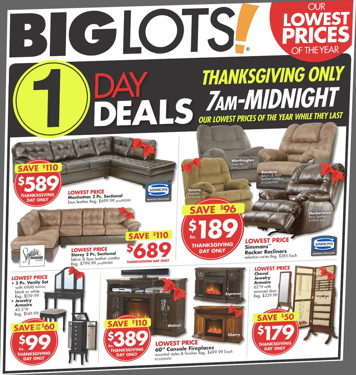 Big Lots Black Friday 2018 Sale Amp Furniture Deals Blacker Friday