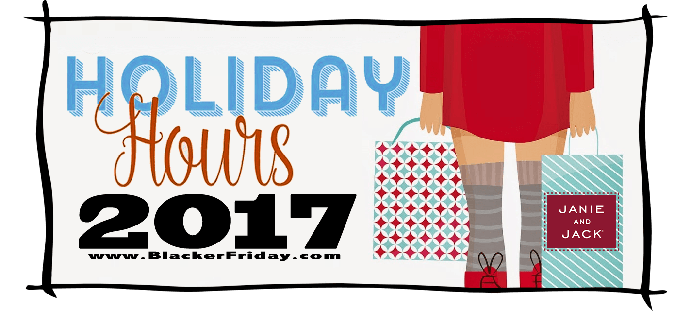 Janie and Jack Black Friday Store Hours 2017