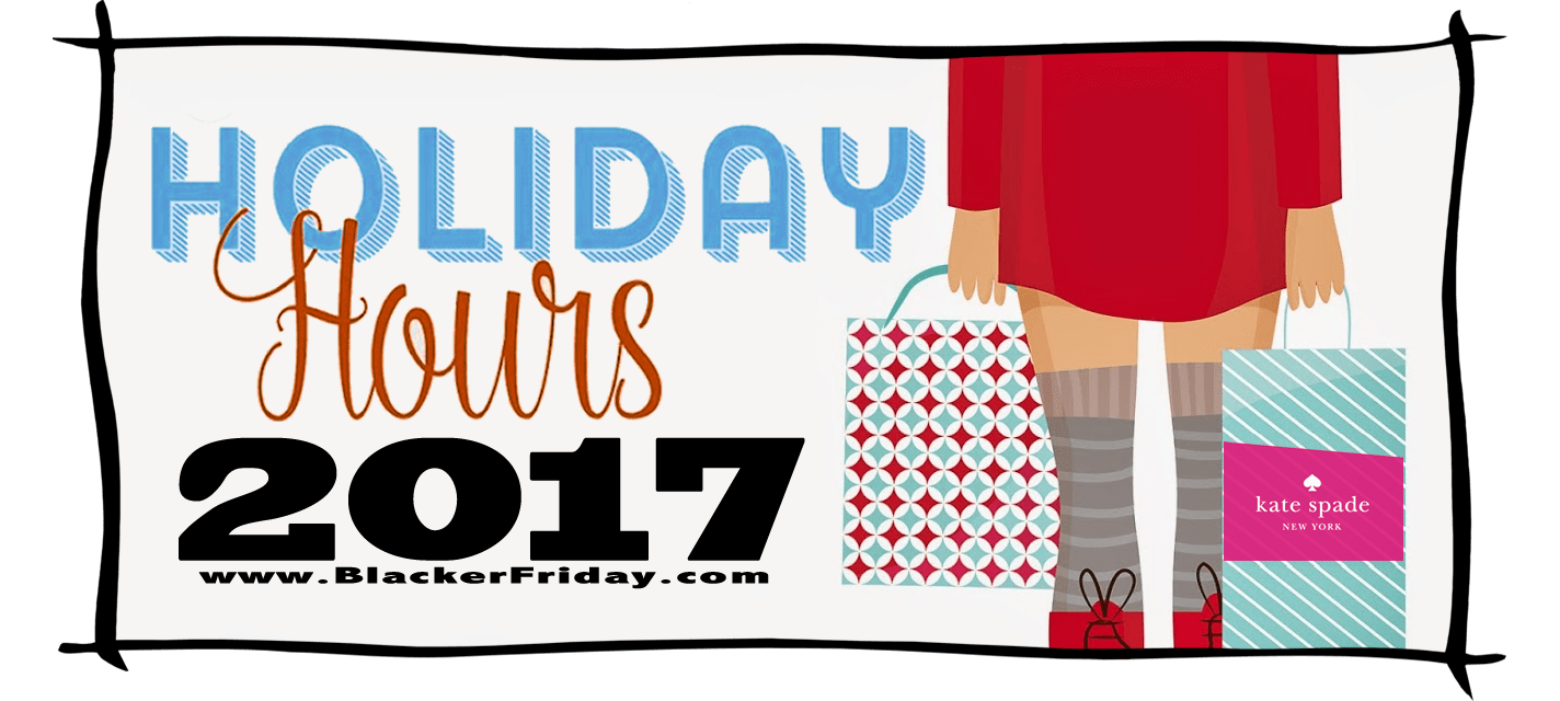 Kate Spade Black Friday Store Hours 2017