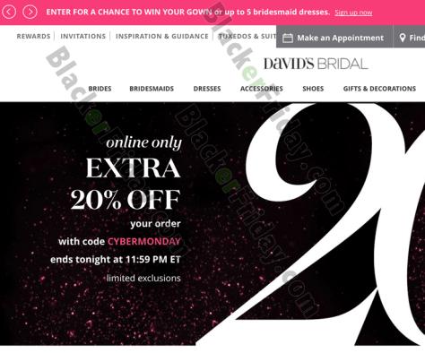 David S Bridal Cyber Monday Sale 2019 Blacker Friday