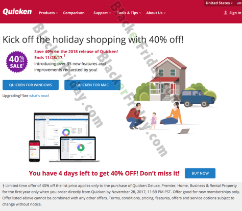 Quicken Cyber Monday Sale 2019 (2020 Versions