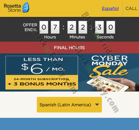 Rosetta Stone Cyber Monday Sale 2019 - BlackerFriday com