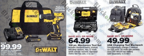 dewalt tools ad. home depot: depot had by far the most dewalt power tools featured in their black friday ad than all others that we\u0027ve come across.