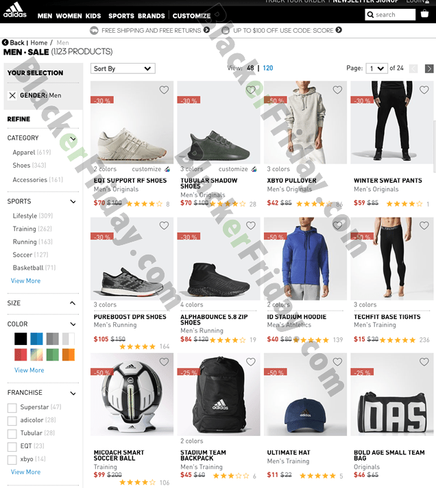 See adidas.com/us for official terms and conditions as some items may be  excluded from the offer. Happy bargain hunting!
