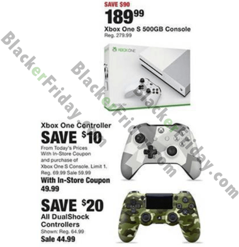Xbox One S Black Friday 2019 Sale & Bundle Deals