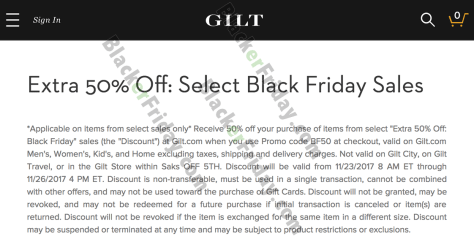 Gilt Black Friday 2017 Sale Deals Coupon Codes Christmas Sales 2017