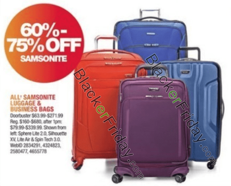 Samsonite Black Friday 2019 Sale & Luggage Deals