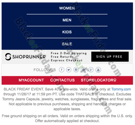 6e0992a83 Tommy Hilfiger Black Friday 2019 Sale & Deals - BlackerFriday.com
