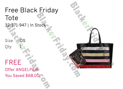 Victoria S Secret Black Friday 2019 Sale Free Tote Bag