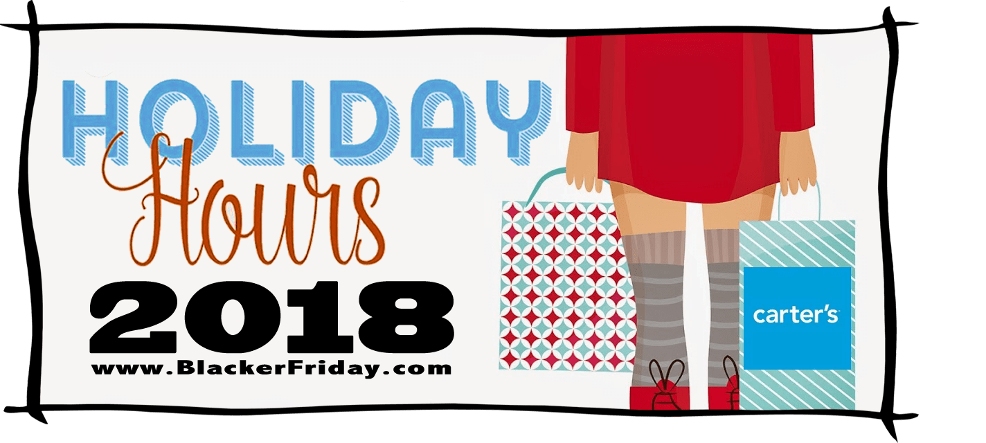 Carters Black Friday Store Hours 2018