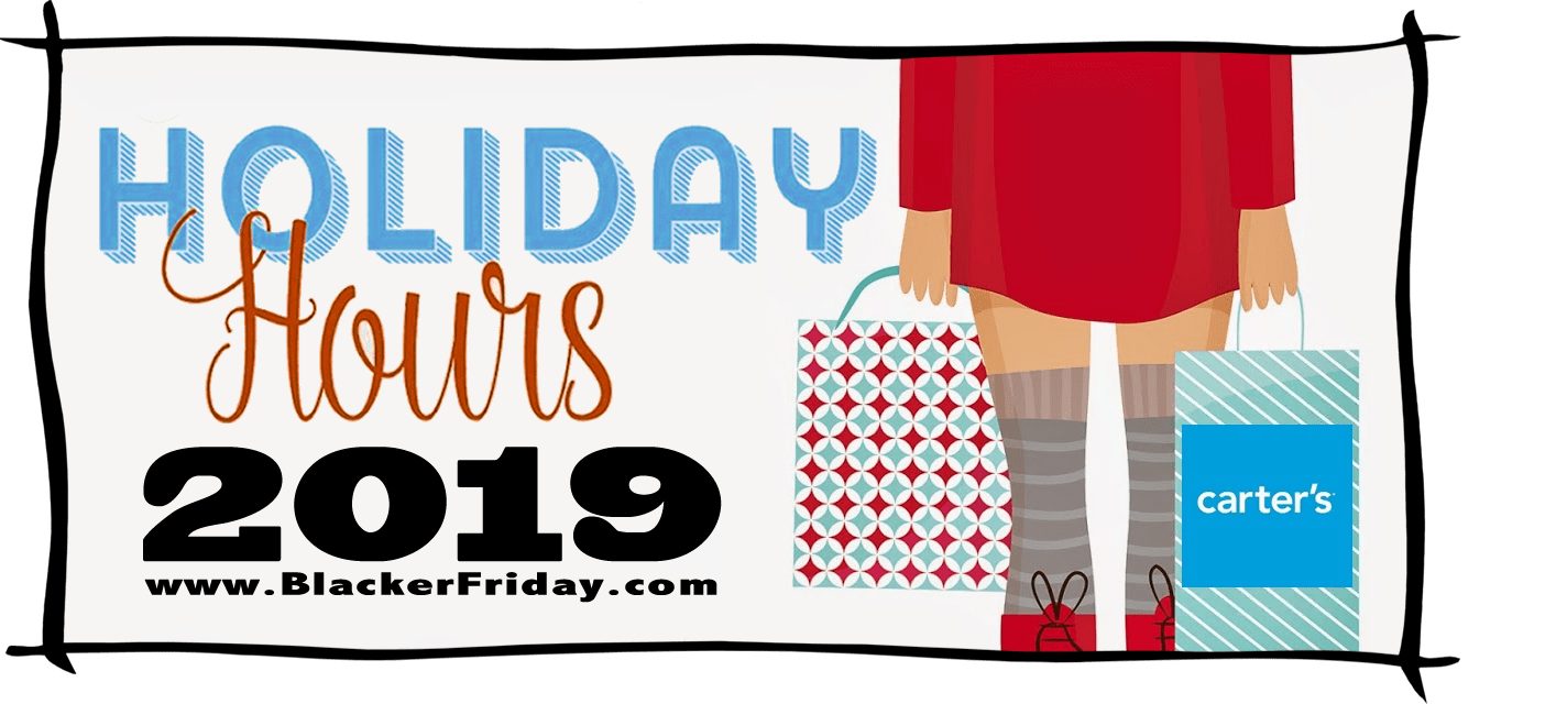 Carters Black Friday Store Hours 2019