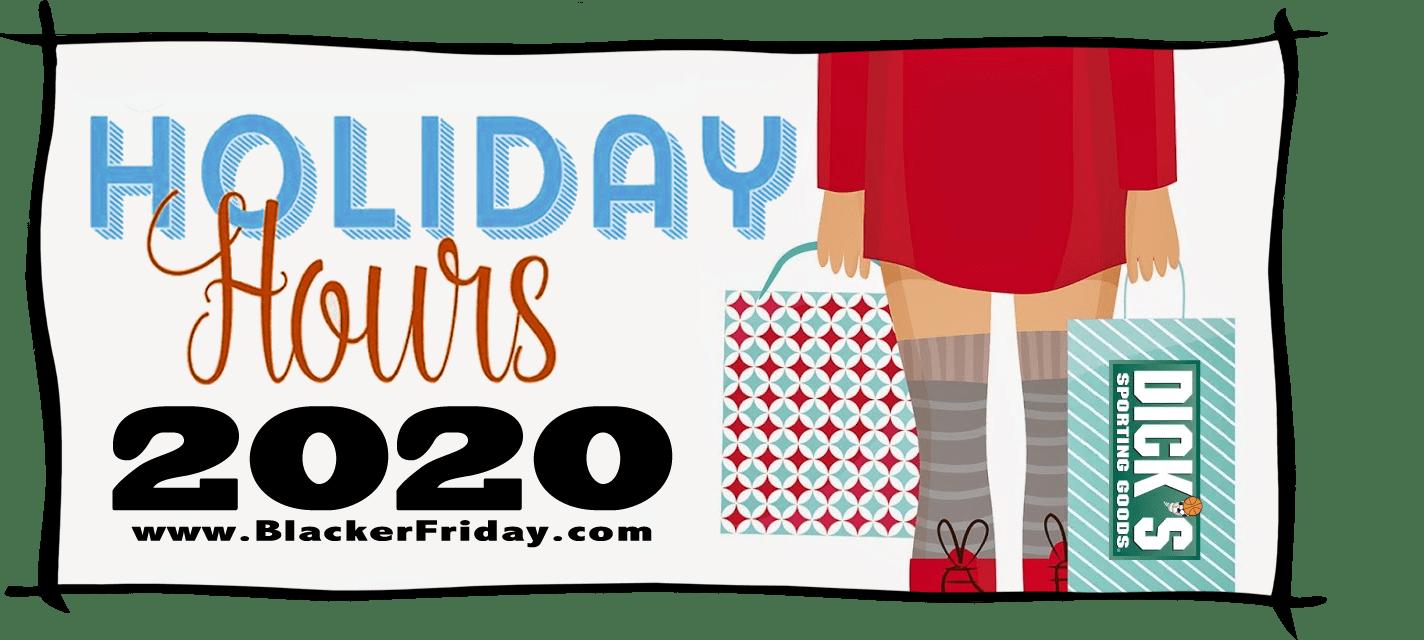 Dicks Sporting Goods Black Friday Store Hours 2020