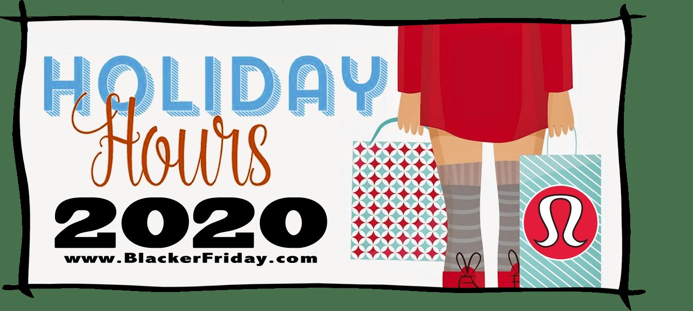 Lululemon Black Friday Store Hours 2020
