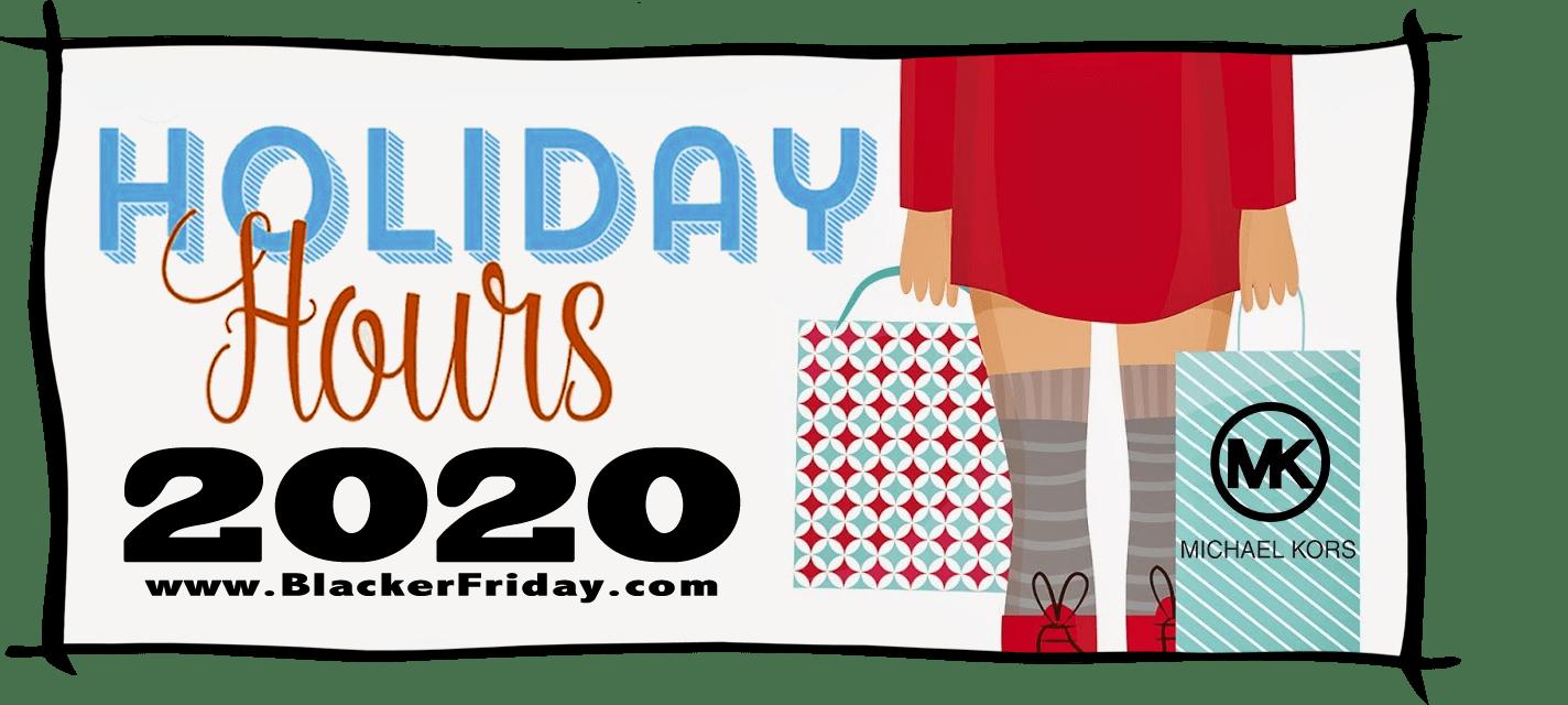 Michael Kors Black Friday Store Hours 2020