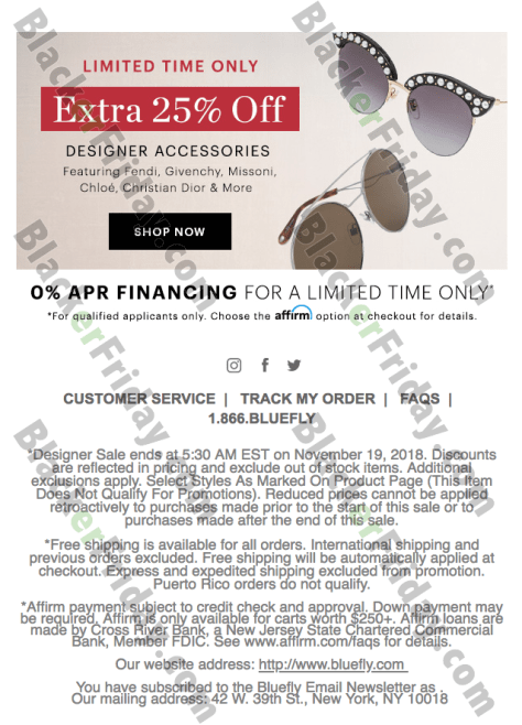 750ed2929d6b ... terms and conditions so be sure to check it out! Then don t forget to  go back to Bluefly s site on Friday morning to see their full Black Friday  sale.