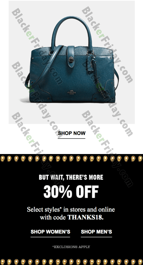 Coach Cyber Monday Coupons