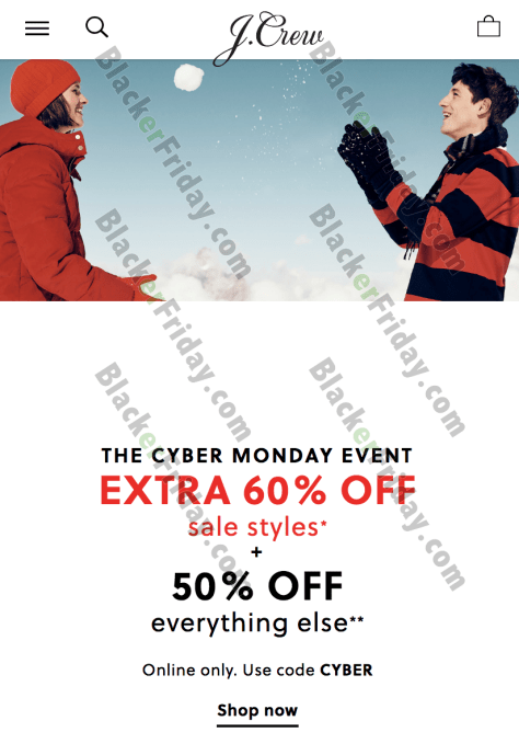 99f67294a36 J.Crew's Cyber Monday Sale for 2019 - BlackerFriday.com