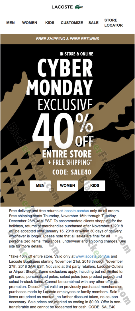 71e67fef09472 What are you planning on getting at Lacoste s Cyber Monday sale this year   Let us know in the comments section (you ll find them at the bottom of this  page) ...