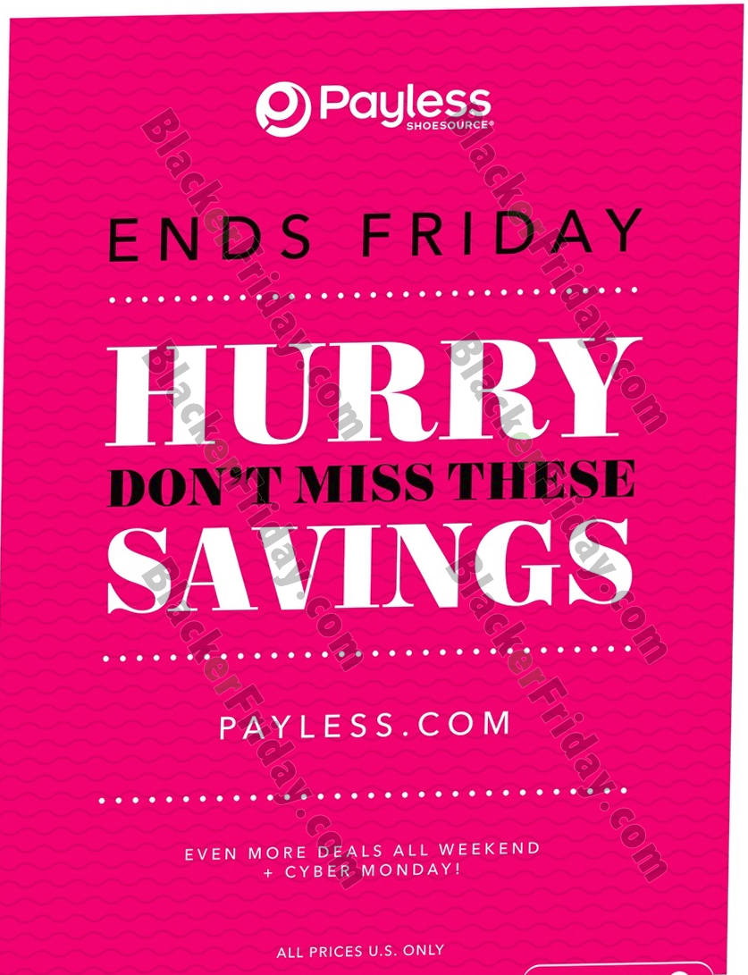 Payless Shoes Black Friday 2020 Sale