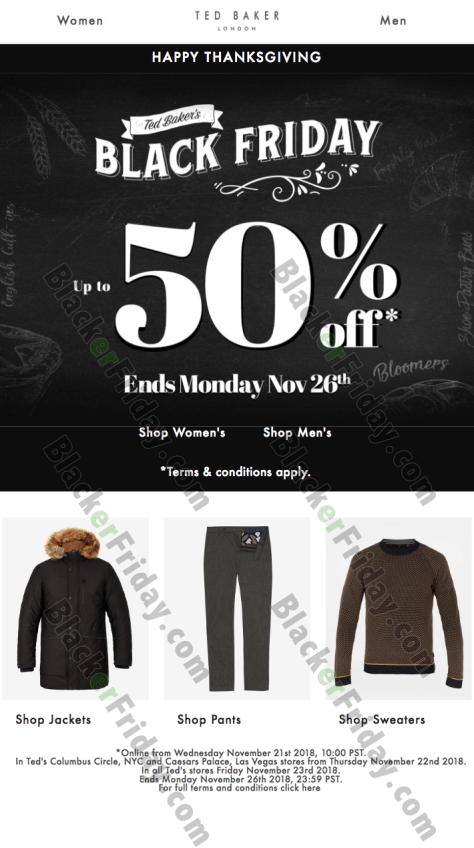 c85960591c9ca What are you planning on buying at Ted Baker this Cyber Monday  Let us know  in the comments section (located at the bottom of this page).