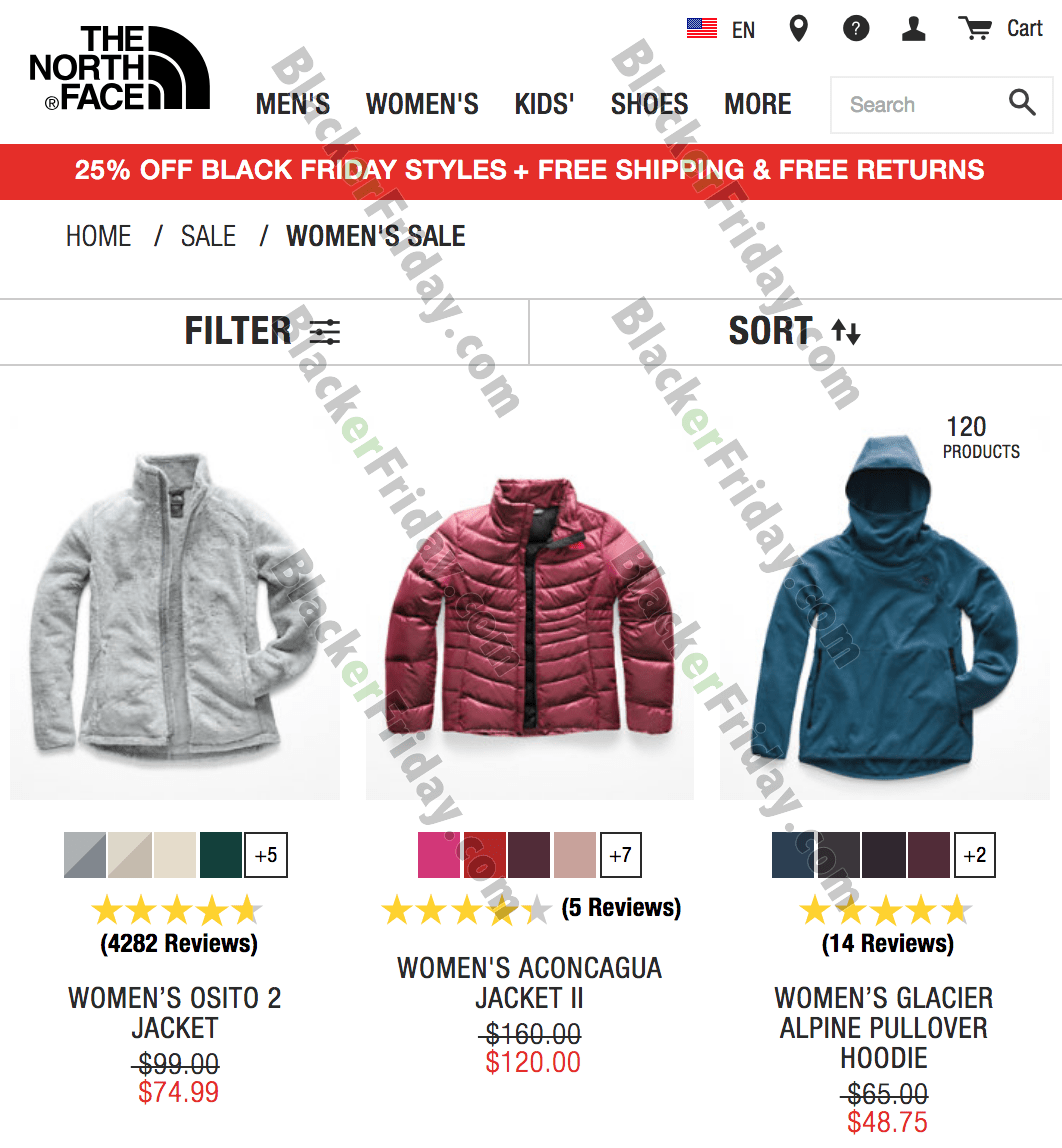 does north face participate black friday