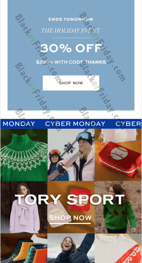 12c0995a5d1c Tory Burch Cyber Monday 2019 Sale - BlackerFriday.com