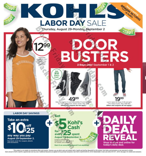 Kohl S Sales This Weekend: Kohl's Labor Day Sale 2019
