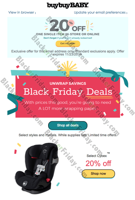 Buy Buy Baby's Black Friday 2020 Sale - What to Expect ...