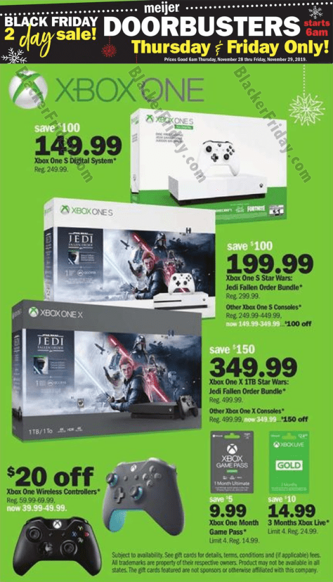 Xbox One S Black Friday 2020 Sales Bundle Deals Blacker Friday
