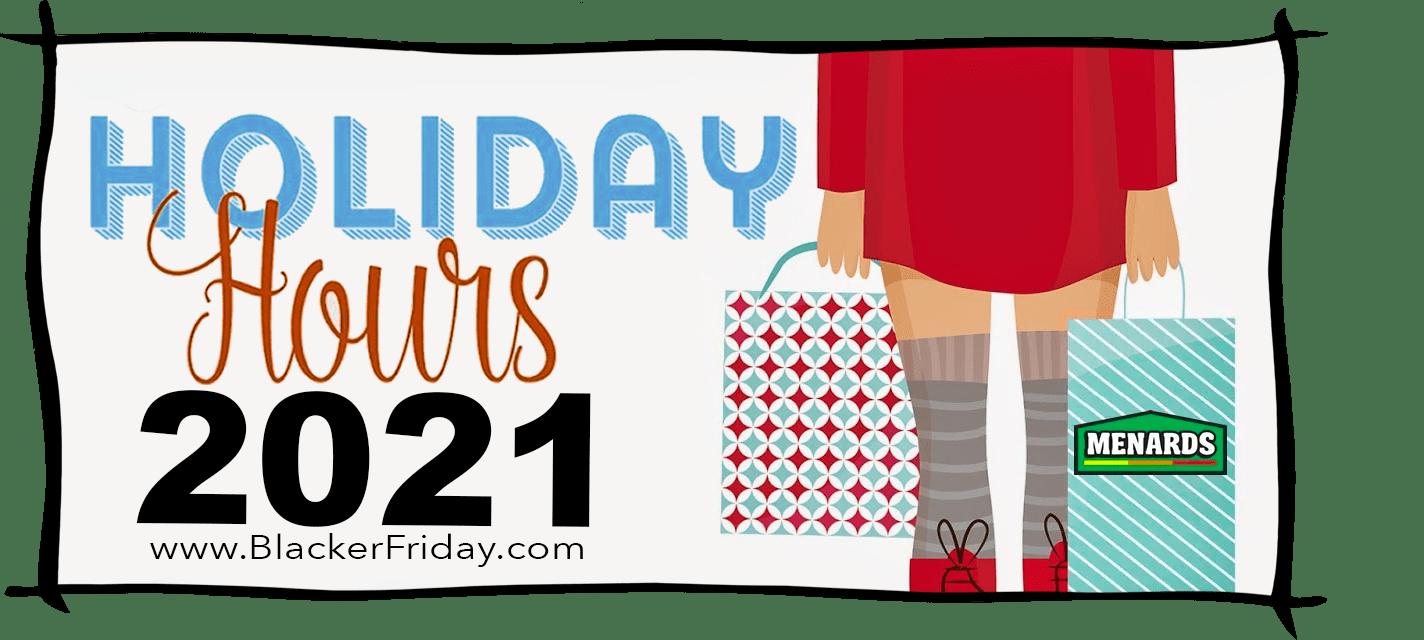 Menards Black Friday Store Hours 2021