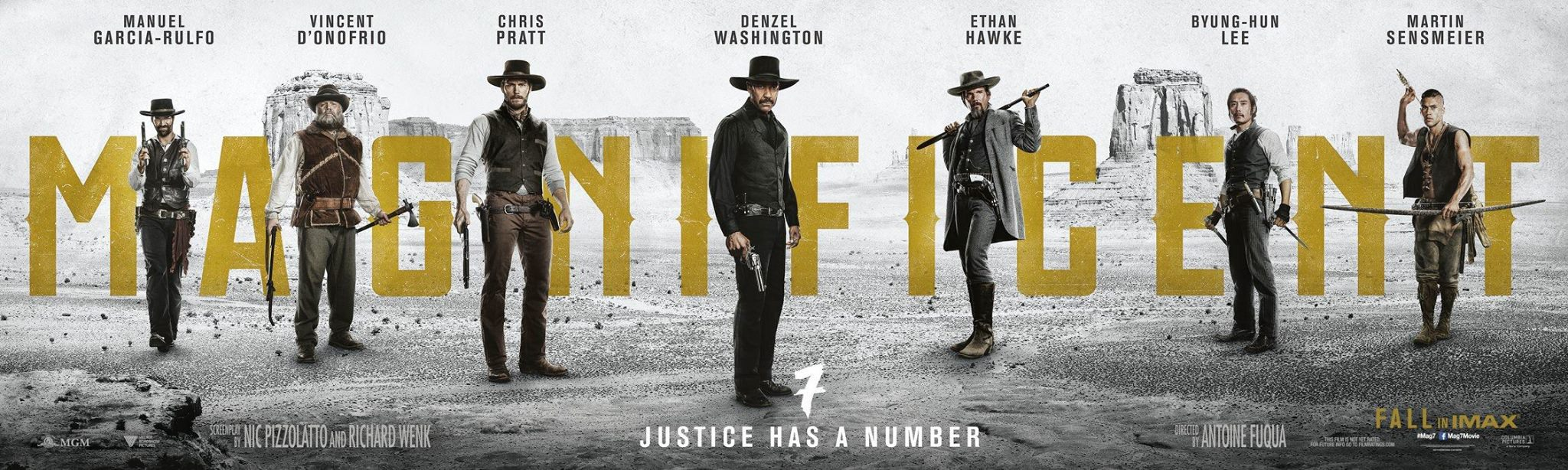 Image result for poster for the magnificent seven 2016