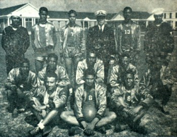 The all-black Bronson Field Bombers, a WWII era basketball team