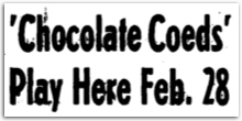 Chocolate Co-eds headline