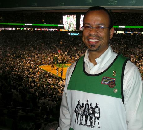 Claude Johnson at NBA Finals Game 6