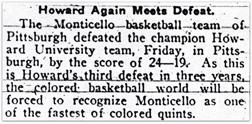 Monticellos defeat Howard